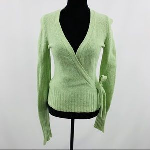American Eagle Outfitters Green Wrap Sweater